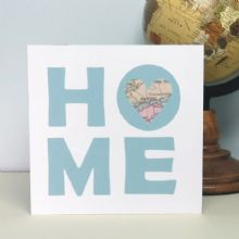 Home Heart Map Personalised Card - Ideal for Mother's Day or as a Birthday Card